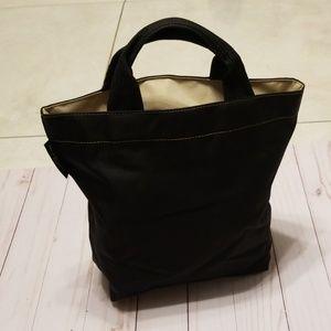 Herve Chapelier mini tote bag black and tan